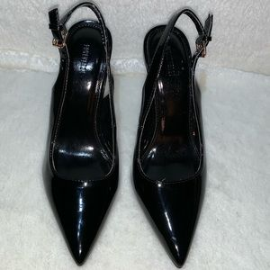 Forever 21 Black Patent Leather Heels Size 7